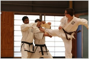 Teen Taekwondo training