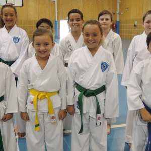 Taekwondo training for kids